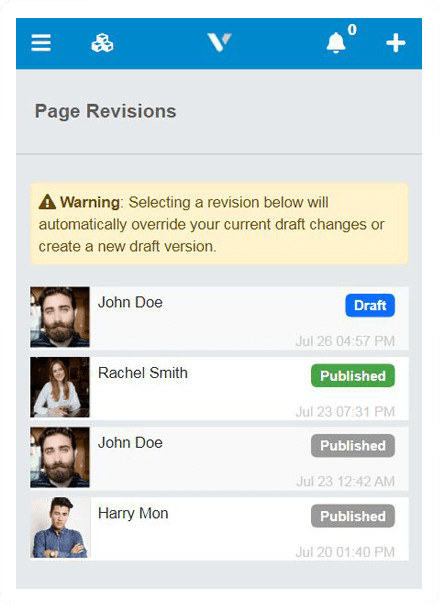 Page Revisions
